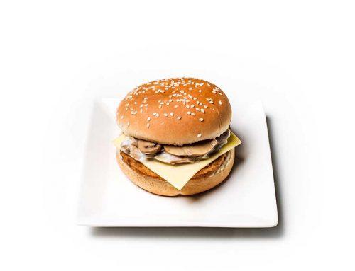 Creamy Mushroom Chicken Burger with Cheese