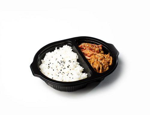Korean BBQ Chicken with Kimchi & Rice
